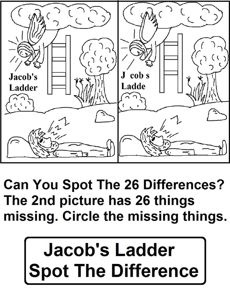 Jacobs Ladder Find The Difference Answer Key