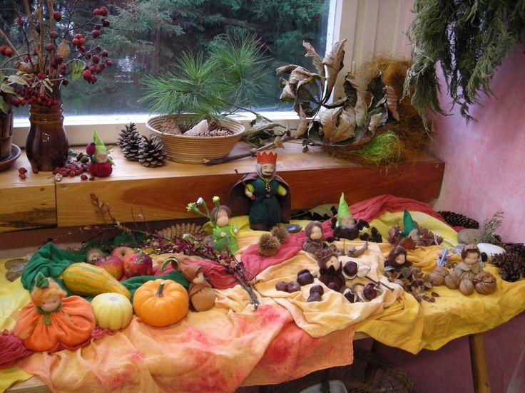 podzimní stolek