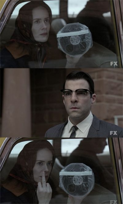 That was such a great moment in American Horror Story:Asylum.