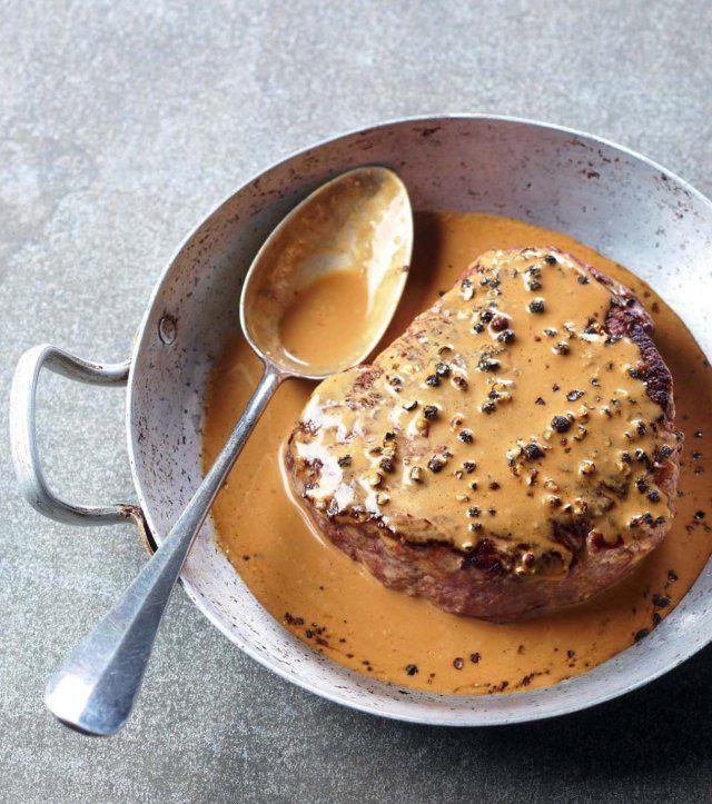 Chateaubriands au poivre flambés au whisky #cuisinefrançaise