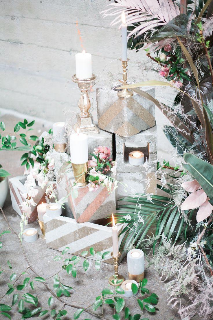 wedding ceremony decor - photo by Katt Willson http://ruffledblog.com/stylish-tropical-wedding-inspiration-in-the-pacific-northwest