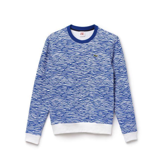 Men's L!VE Aqua Print Sweatshirt
