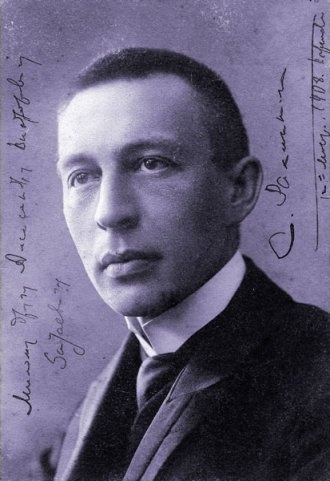 Sergei Rachmaninoff (1873-1943). Russian composer, pianist and conductor. A student of Tchaikovsky's.