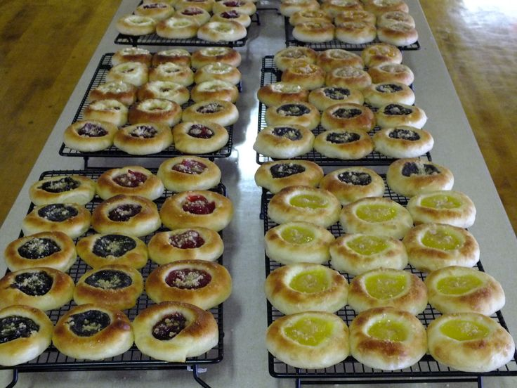 Kolache - Czech Pastry (I haven't made these, but I have eaten them a lot.  Miss them yummy terribly!)