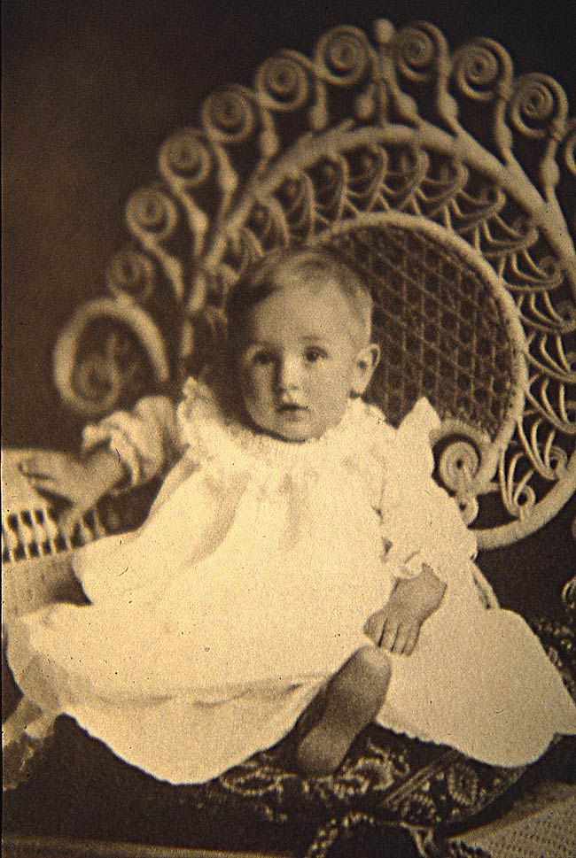 Walt Disney approximately 1 year old-Chicago, Illinois. Not so much an innovator in Chicago, as he only lived here until he was 3, but still. We claim Walt Disney.