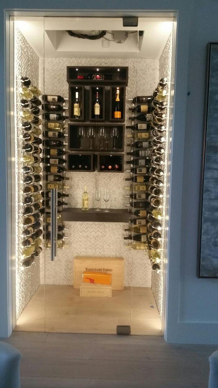 Glass enclosed wine cellar - Frameless Glass Wine Cellar Door Room Naples Fl