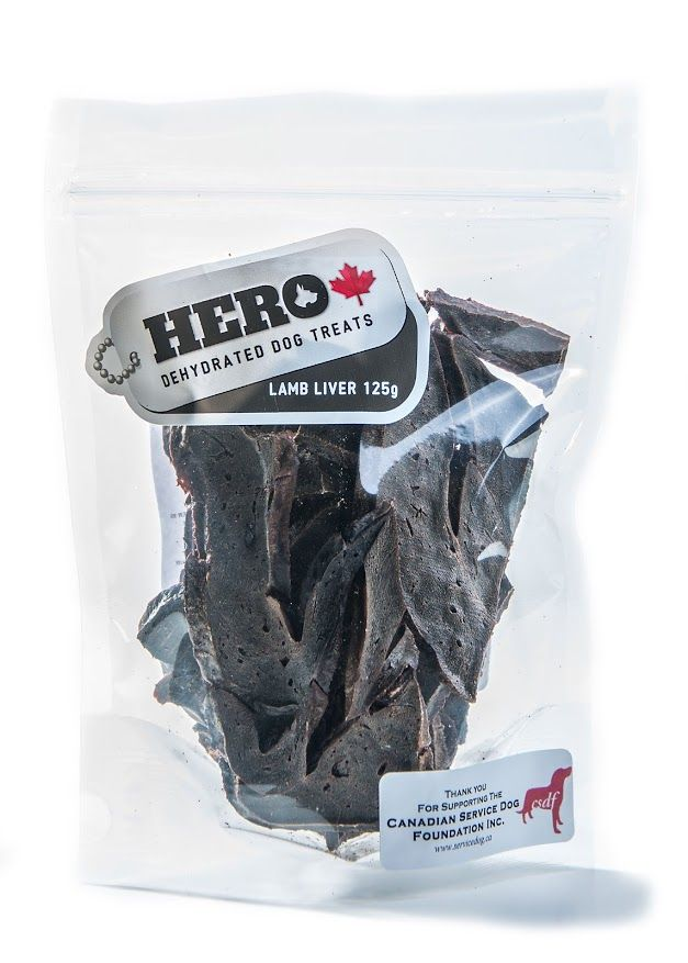 Lamb Liver - 125gr 12.99 HeroDogTreats™ Lamb Liver is a Very Rich Crunchy Dehydrated Light Snack Packed with Protein & Serves as a Great Substitute for Beef.
