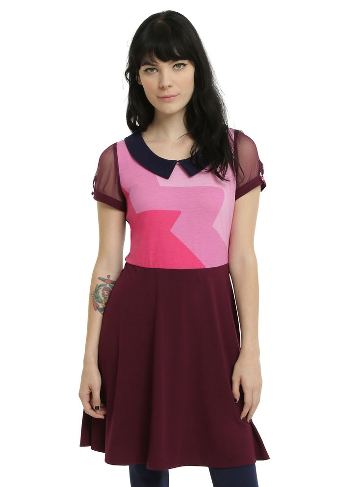 <p>Show off your strength in this Garnet dress from Cartoon Network. The…