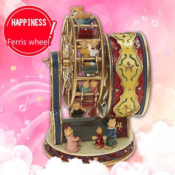 >> Click to Buy << Happy Ferris wheel music box Aqumotic high quality Rotate Can choose songs happy Birthday meet #Affiliate