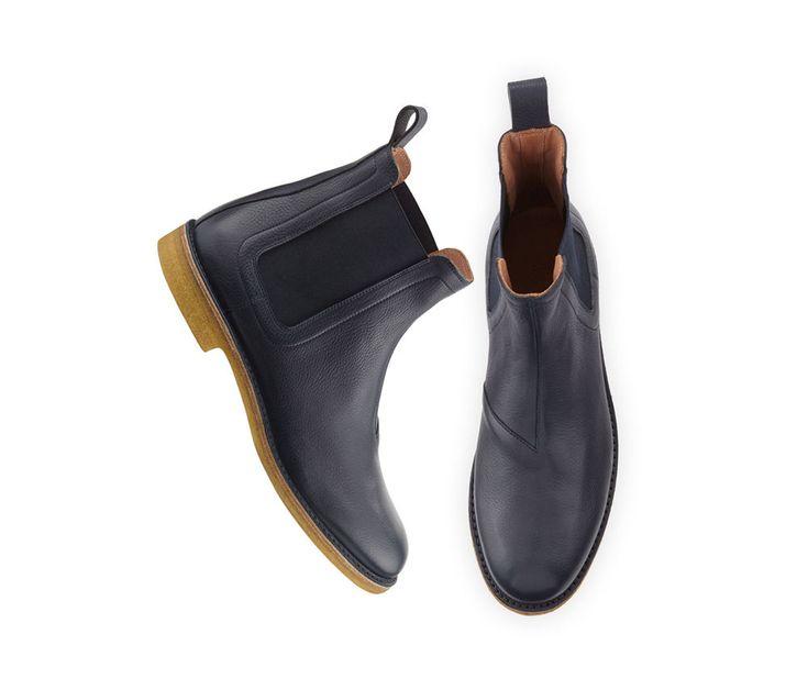 Handmade Chelsea Leather Boots Men,  Soft Calf Leather Crape sole Men Dress Boot #Handmade #AnkleBoots