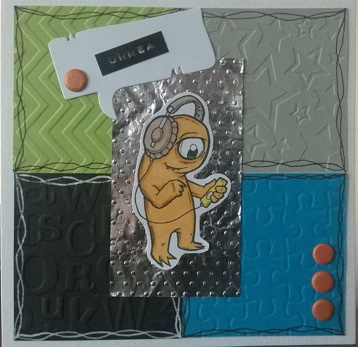 Card for boy. Stamp: Paper Makeup Stamps / kortti pojalle