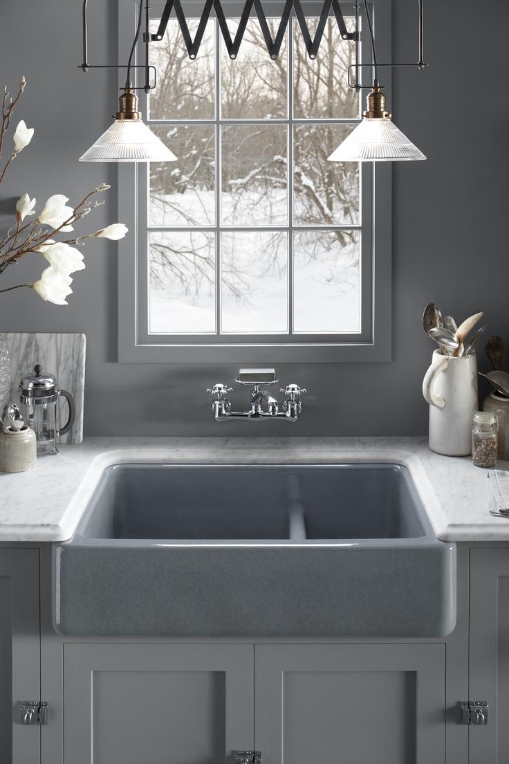 Kohler whitehaven apron sink - Kohler Smart Divide Bowls Make Our Whitehaven Sinks More Functional Than Ever A Low Barrier