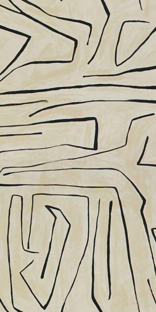 KELLY WEARSTLER | GRAFFITO FABRIC. In Linen/Onyx