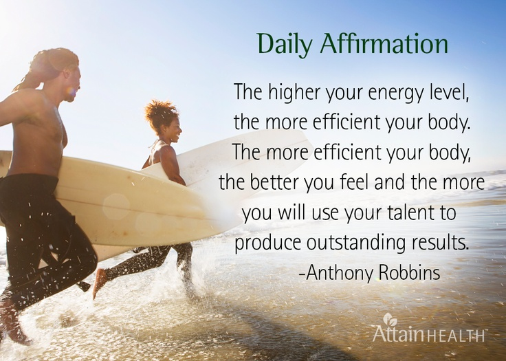 Daily Affirmations for a healthy positive mind!  www.attainhealth.com