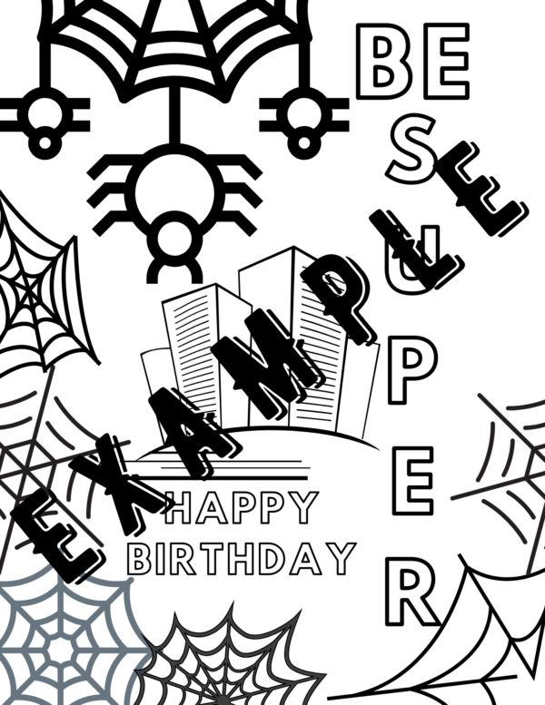 Pin On Super Hero Birthday Coloring Pages