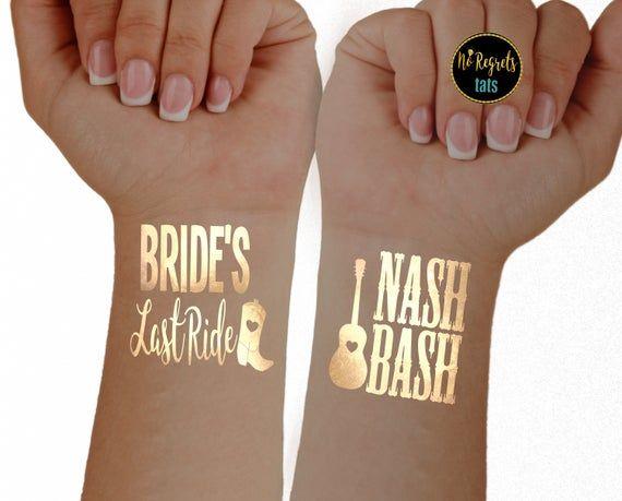 Nashville Bachelorette Party nashville wedding Nash Bachelorette Nash Bash Nashville party favor temporary tattoo Bachelorette Party Favor