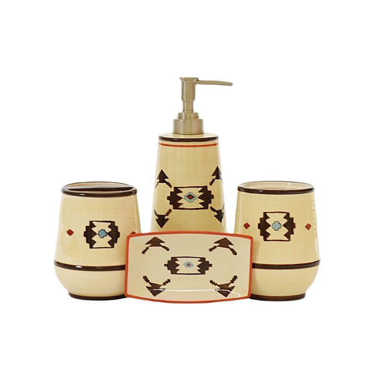 HiEnd Accents 4 Piece Artesia Bathroom Accessories Set - BA3510
