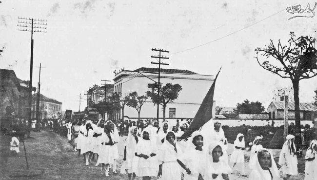 Procissão na Rua Teodoro Sampaio, anos 1910 - Raul Goldschmidt