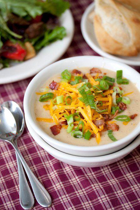 , Creamy Potato Soup-slow cooker | Recipes | Pinterest | Baked Potato ...