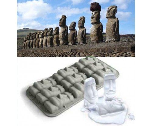 Húsvét szigetek szilikon forma - jégkocka, bonbon készítéséhez, sütemények, torták, koktélok dekorálásához