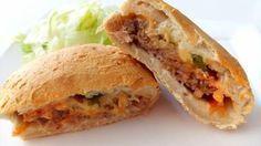 Gevulde cheeseburger broodjes