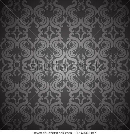 Ornate vintage seamless texture - stock photo