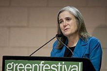 """Amy Goodman - One of the best journalists in the US.  She is the author of several books and the host of """"Democracy Now!"""" - an independent global news program. You can download it via iTunes or watch it online at democracynow.org."""