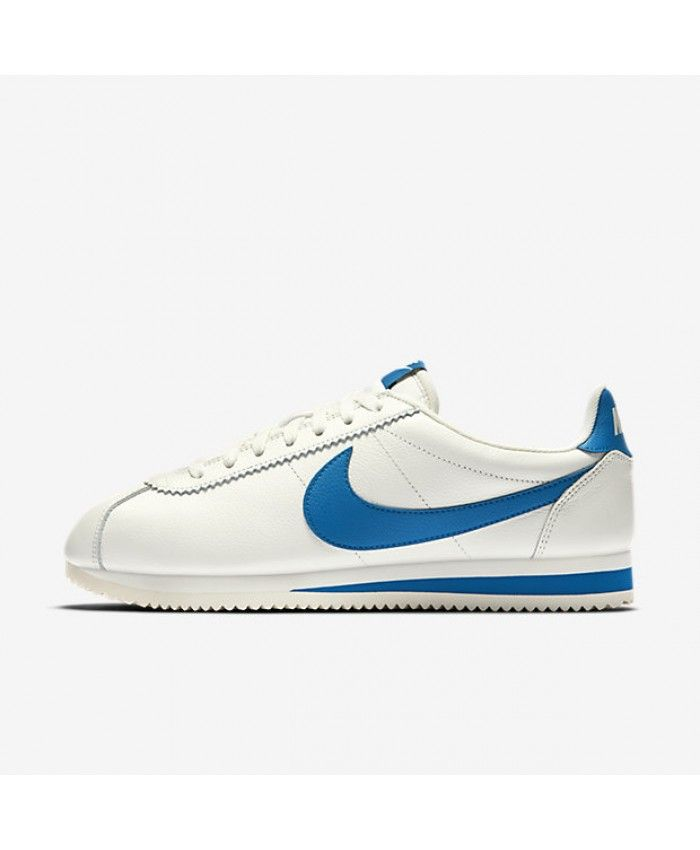 60a3c7b5c5bf Nike Classic Cortez Leather SE Sail Blue Jay 861535-102