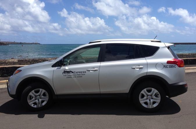 Private Departure Transfer: Kauai Hotels or Resorts to Kauai International Airport Affordable private car transfer from Kauai's Lihue International Airport (LIH) to your Kauai Hotels, Kauai Resorts, or the famous Kalalau trail. Your driver will pick you up at the Lihue airport and transport you to your hotel in Lihue, Poipu, Kapaa, Koloa, Princeville, Hanalei, Kalalau Trail, Kalaheo, Hanapepe, Waimea, or Kekaha.Enjoy a clean, private car transfer that will take you from Kauai...