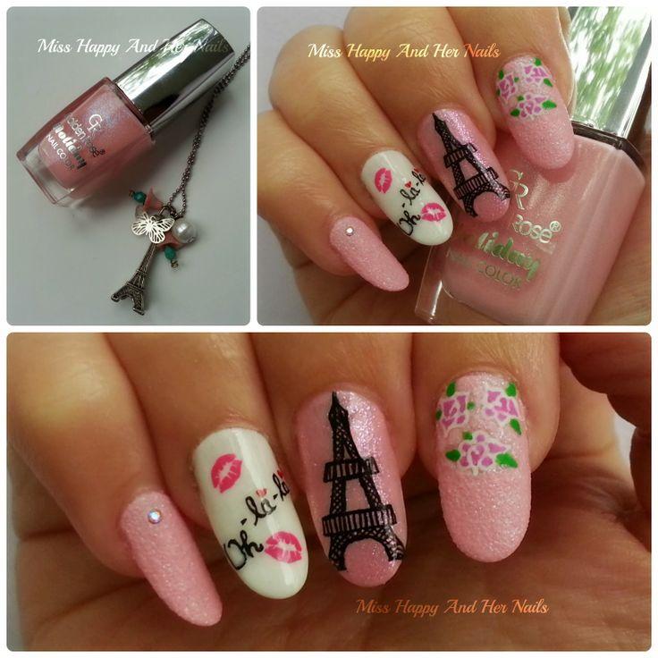 12 best Paris nails images on Pinterest   Paris nail art, Paris ...