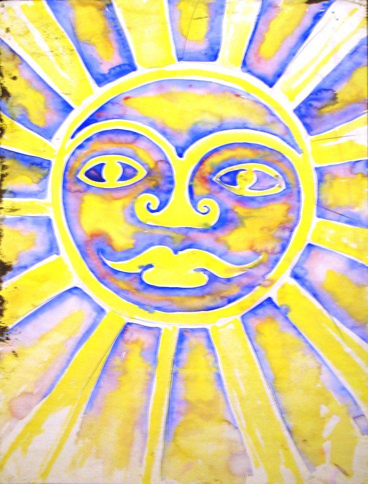 """""""Sun"""" watercolor, Walter Anderson"""