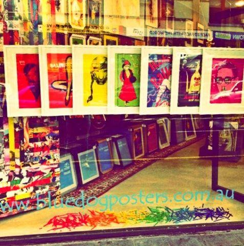 Mardi Gras Window, #bluedogposters, 311 King Street, Newtown