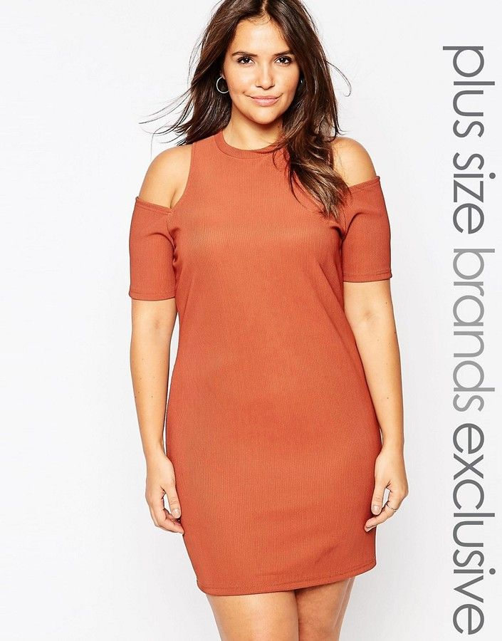 Alice & You Cold Shoulder Body-Conscious Dress