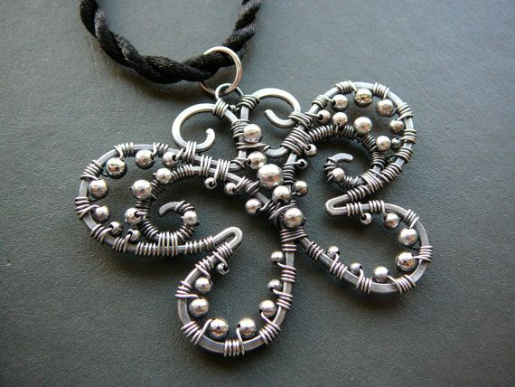 Black Butterfly wire wrapped sterling by CleopatraKerckhof, $93.00
