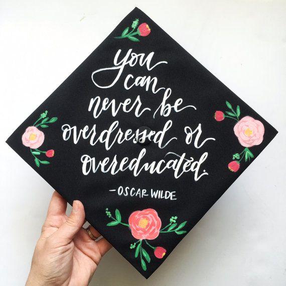 Custom Graduation Cap by AriaPaperie on Etsy