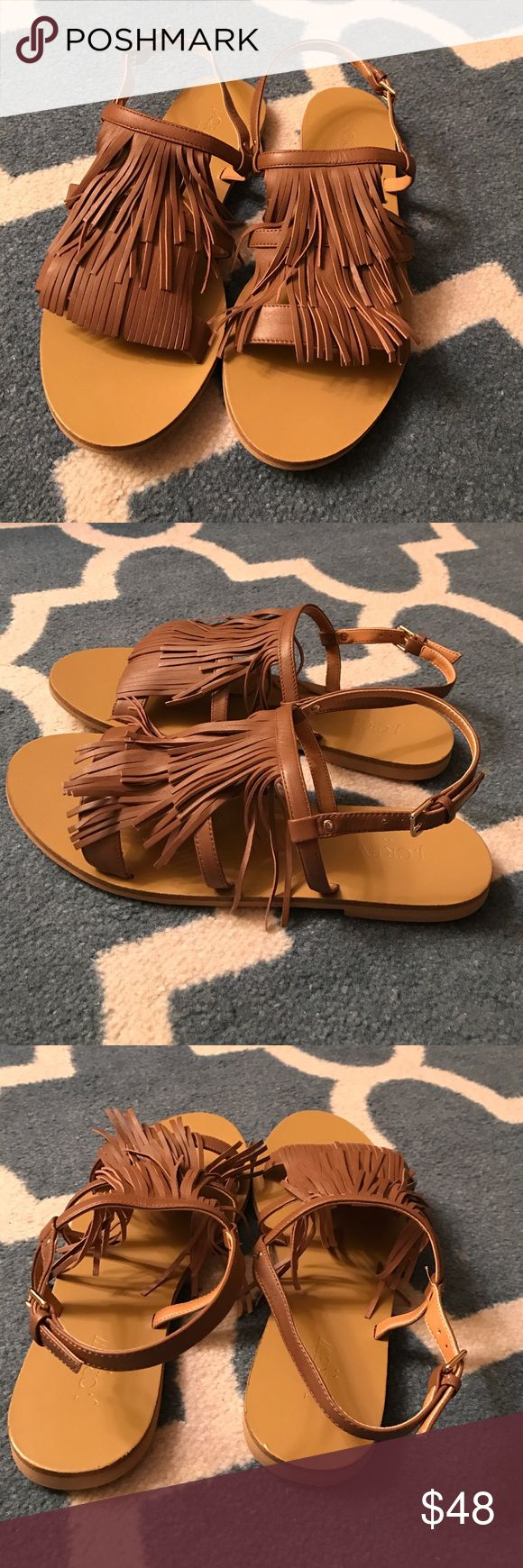 🎊 SALE 🎊 J.Crew Factory Fringe Leather Sandal 🎊 SALE - Price Firm 🎊 Adorable tan fringe sandals from J.Crew Factory. The color is neutral enough to go with most outfits and the fringe adds a little excitement! Very comfortable. Great with shorts, a sundress, and even jeans. J.Crew Factory Shoes Sandals