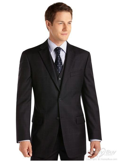 Notch Lapel Plaid Handmade Bespoke Men Suit