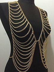 belles chaînes de la mode de luxe corps des femmes