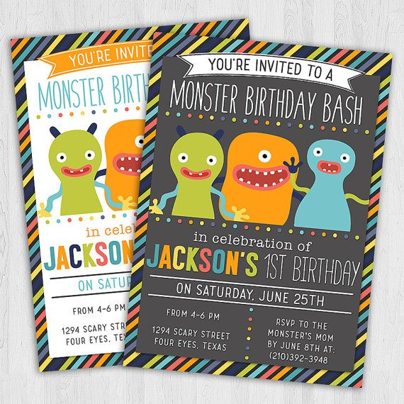 Monster Bash Birthday Party Invitation | Party Invitation Printable | Monster Themed Party | #monsterparty #monster #spooky #birthday #boy #party #invitation #design #diy #celebrate #poshlittledesignshop