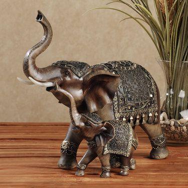 Nurturing Elephant Table Sculpture - $50