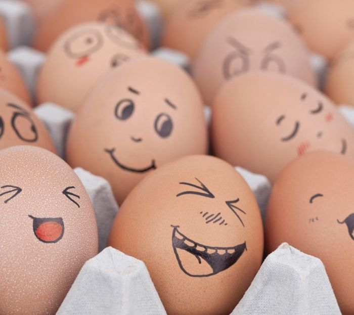 Nice smileys on eggs
