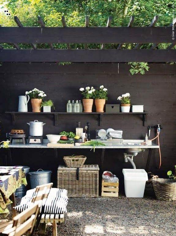 27 härliga utekök som får dig att önska sommar året runt - Sköna hem
