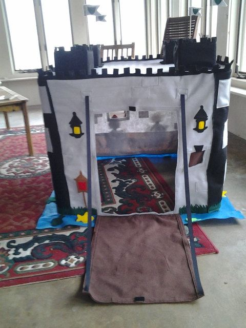 Knights castle card table Playhouse by HowIavoidhousework on Etsy, $140.00