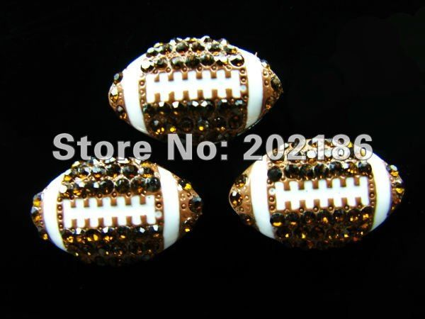 Rhinestone Ball Season!! 20pcs balls Series--Rhinestone Football slide charms  fit 8mm wristband/belt/pet collar