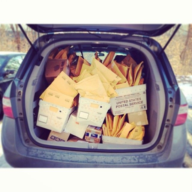 In case you were wondering what 150 white elephant gifts look like stuffed into a van (and that was only half of that day's mail run). Thanks to all who participated this year! Don't forget to share pics of your goodies online with #HouWhiteElephant.