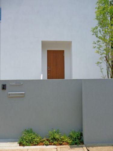 オープンエクステリア施工事例 / シンプル、モダン、北入り、植栽が映える外構