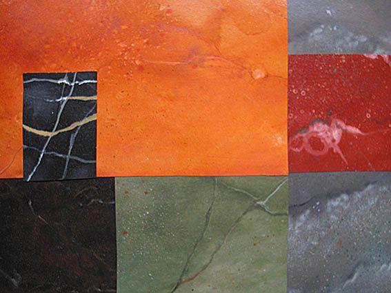 Marbling samples - oil on paper