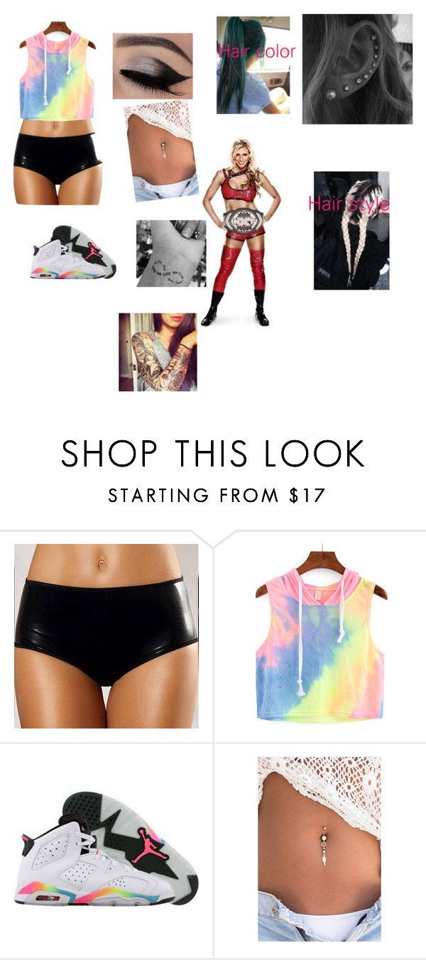 """Nxt women's championship agains Charlotte"" by cmsvball19 on Polyvore featuring Retrò"