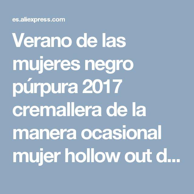 Verano de las mujeres negro púrpura 2017 cremallera de la manera ocasional mujer hollow out dress mujeres vestidos de partido de tarde del vendaje de bodycon s120 en Vestidos de Ropa y Accesorios de las mujeres en AliExpress.com | Alibaba Group