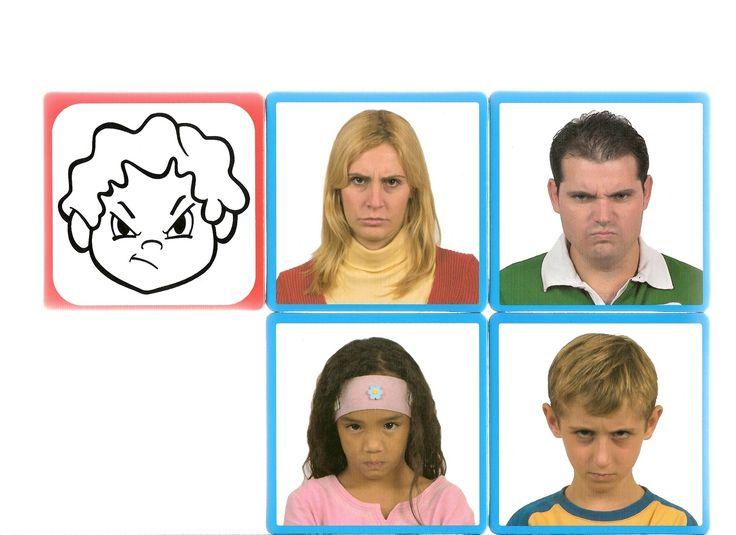 Thema emoties en gevoelens: Utilfreds http://arbeitsmaterial.blogspot.fr/2015/11/mimikkarten-mach-nach.html